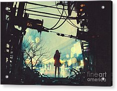 Alone In The Abandoned Town#2 Acrylic Print