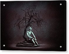 Alone In The Dark Acrylic Print by Tom Mc Nemar