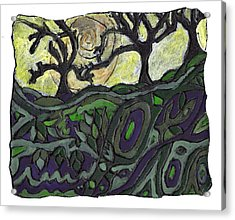 Alone In The Woods Acrylic Print