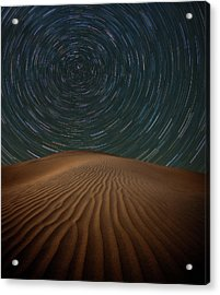 Acrylic Print featuring the photograph Alone On The Dunes by Darren White