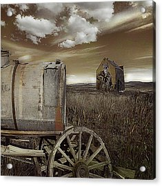 Alone On The Plains Acrylic Print by Jeff Burgess