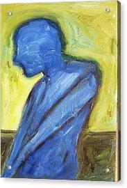 Alone Acrylic Print by Ron Klotchman