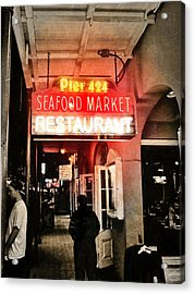 Acrylic Print featuring the photograph Along Bourbon Street - New Orleans by Glenn McCarthy Art and Photography