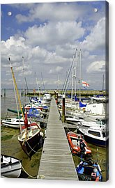 Along C Pontoon In Ryde Harbour Acrylic Print by Rod Johnson