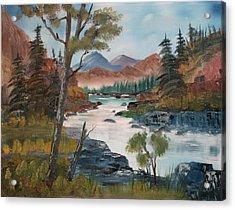 Along Canyon Drive Paradise Montana Acrylic Print by Larry Hamilton