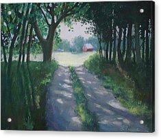 Along Kelderhouse Road Acrylic Print by Linda Preece