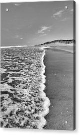 Along The Beach Bw Acrylic Print