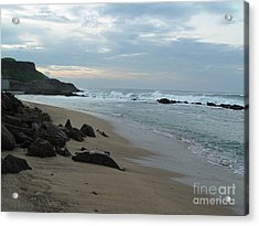 Along The Beach Puerto Rico Acrylic Print by Patty Vicknair
