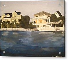 Along The Charleston Sound Acrylic Print by Casey Bingham