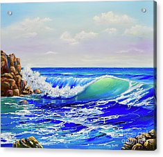 Acrylic Print featuring the painting Along The Coast by Mary Scott