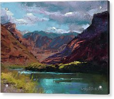 Along The Colorado Acrylic Print by Mary Benke