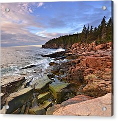 Acrylic Print featuring the photograph  Along The Maine Coastline by Stephen  Vecchiotti
