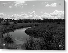 Along The Palouse River Acrylic Print by Matt McCune