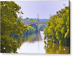Along The Schuylkill River In Manayunk Acrylic Print by Bill Cannon