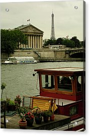 Along The Seine Acrylic Print