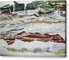 Along The Shore Acrylic Print by Linda King