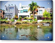 Acrylic Print featuring the photograph Along The Venice Canals by Chuck Staley