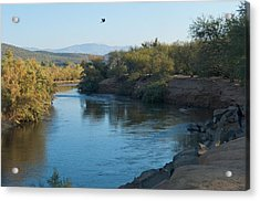 Along The Verde River 7 Acrylic Print by Susan Heller
