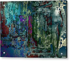 Along The Wall Acrylic Print by Francis Erevan