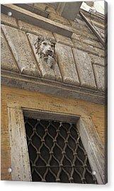 Along Via Di Pasquino Acrylic Print by JAMART Photography