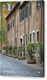 Along Via Giulia Acrylic Print by JAMART Photography