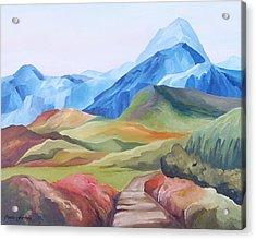 Alp Landscape Acrylic Print by Carola Ann-Margret Forsberg