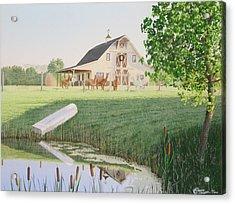 Alpaka Farm Acrylic Print