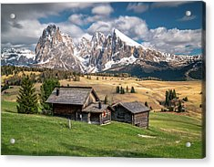 Alpe Di Suisi Cabin Acrylic Print by James Udall