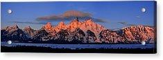 Alpenglow Tetons 2 Acrylic Print