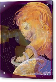 Acrylic Print featuring the digital art Alpha And Omega by Nancy Watson
