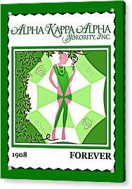 Alpha Kappa Alpha Acrylic Print by Lynda Payton