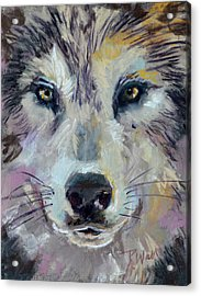 Acrylic Print featuring the pastel Alpha by Pattie Wall
