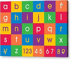 Alphabet Colors Acrylic Print by Michael Tompsett