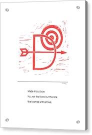 Alphabet Haiku Letter D Acrylic Print