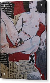 Alphabet Nude X Acrylic Print
