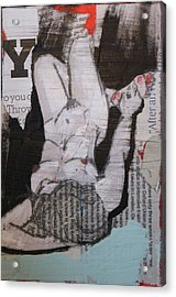 Alphabet Nude Y Acrylic Print by Joanne Claxton
