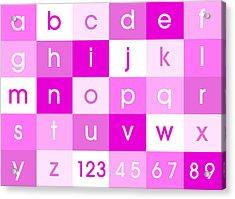 Alphabet Pink Acrylic Print by Michael Tompsett