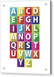 Alphabet Acrylic Print by Samuel Whitton