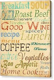 Alphabet Soup-a Acrylic Print