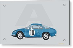 Acrylic Print featuring the mixed media Alpine A110 by TortureLord Art