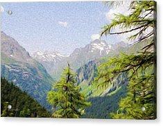 Alpine Altitude Acrylic Print by Jeffrey Kolker
