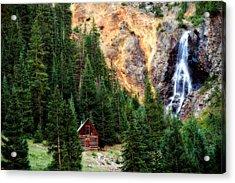 Alpine Cabin Acrylic Print