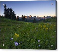Alpine Dawn Acrylic Print by Mike  Dawson