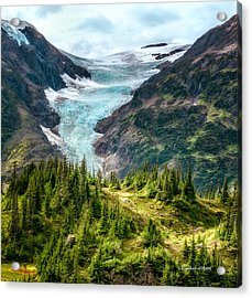 Acrylic Print featuring the photograph Alpine Glacier 40x40 by Claudia Abbott