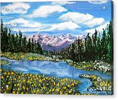 Alpine Lake Colorado Usa Acrylic Print by Nancy Rucker