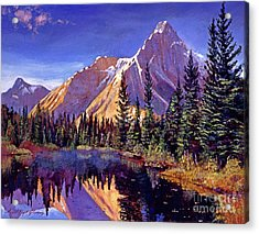 Alpine Lake Mist Acrylic Print by David Lloyd Glover