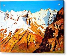 Alpine Landscape Acrylic Print by Henryk Gorecki