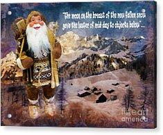 Alpine Santa Card 2015 Acrylic Print