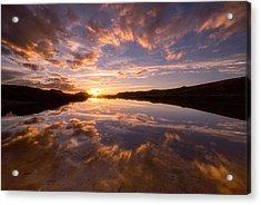 Alpine Sunset Acrylic Print by Darren White