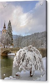 Acrylic Print featuring the photograph Alpine Winter Beauty by Ian Middleton